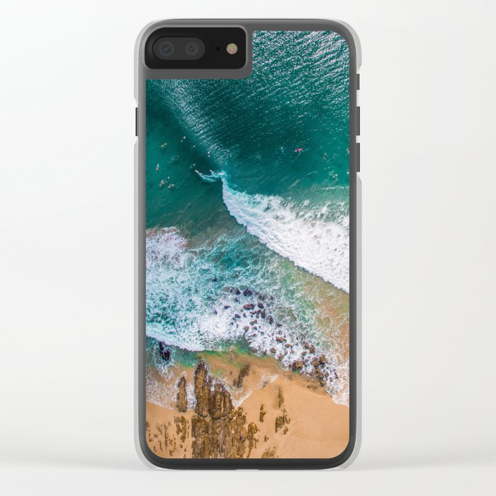 Surf Island Clear iPhone Case