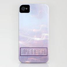 Simple Is Beautiful iPhone (4, 4s) Slim Case