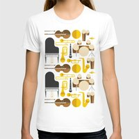 the mortal instruments T-shirts featuring Jazz instruments by Ana Linea