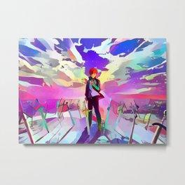 Fate/stay night Neon Metal Print