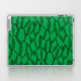Overlapping Leaves - Dark Green Laptop & iPad Skin