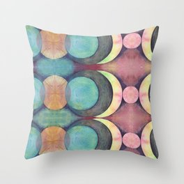 Birth of the Moon pattern Throw Pillow