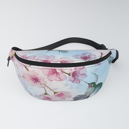Cherry Blossom and Hummingbirds Fanny Pack