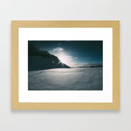 Sunshine behind the Mountain Framed Art Print