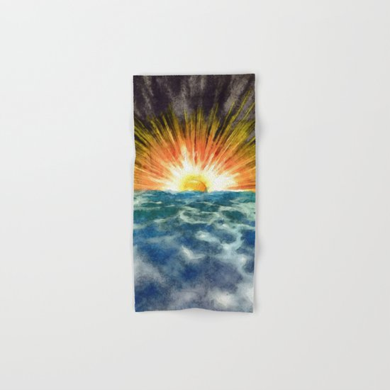Sunset Over Water Hand & Bath Towel