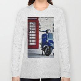 Classic Blue Vespa Long Sleeve T-shirt