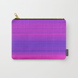 Pink & Blue Gradient Stripes Carry-All Pouch