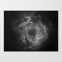 Stars and Space Dust B&W Canvas Print