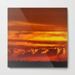 Sunset Layers | Ferntree Gully Metal Print