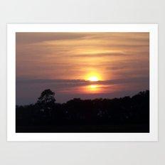 Sunset in Hilton Head Art Print