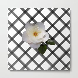FLOWER GRID Metal Print