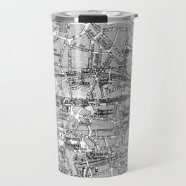 Vintage Map of Bruges (1905) BW Travel Mug