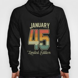 Vintage 75th Birthday January 1945 Sports Gift Hoody