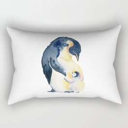 Love You Mom - Little Penguin and Mom Rectangular Pillow