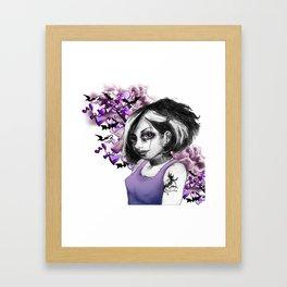 Z imagination The Goth Framed Art Print