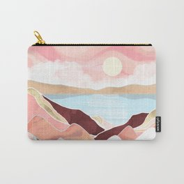 Autumn Lake Sunrise Carry-All Pouch