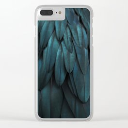 DARK FEATHERS Clear iPhone Case