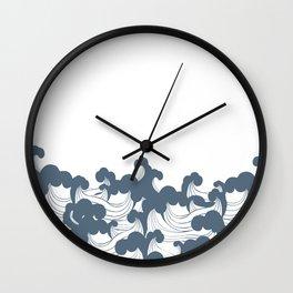 Japanesse Wave Wall Clock