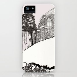 St. Vigeans (black and white) iPhone Case