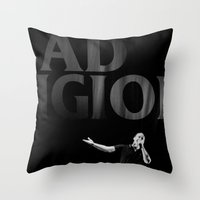 religion Throw Pillows featuring bad Religion by David BASSO