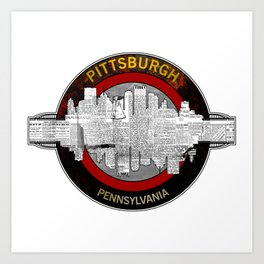 Pittsburgh Pennsylvania Graphic Design Art Print