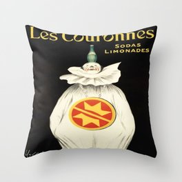 Vintage poster - Les Couronnes Throw Pillow