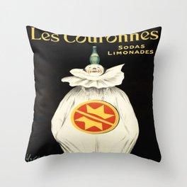 Vintage poster - Les Couronnes Throw Pillow