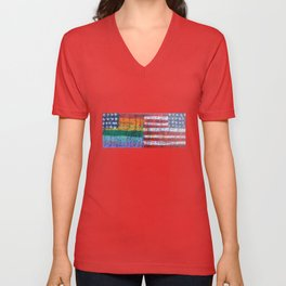 Flags for The Future 28 Unisex V-Neck