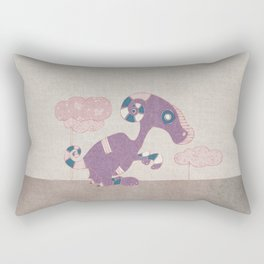 Kangaroo Go-Go Purple Rectangular Pillow