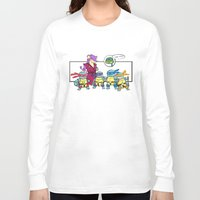 squirtle Long Sleeve T-shirts featuring ninja squirtle by tama-durden