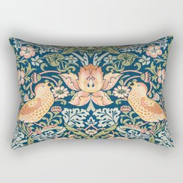 The strawberry thieves pattern by William Morris. British textile art. Rectangular Pillow