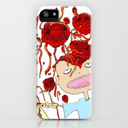 Mom! I don't like meatballs iPhone Case