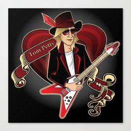 Tom Petty Portrait Canvas Print