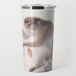 Monkey by Hashimoto Kansetsu, 1940 Travel Mug