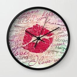 Emotional Kiss Wall Clock
