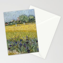 Field with flowers near Arles by Vincent van Gogh Stationery Cards
