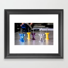 Pointy Framed Art Print