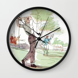 Are You Looking At My Putt? Vintage Golf Wall Clock