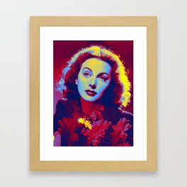 Hedy Lamarr the most beautiful woman in the world Neon art by Ahmet Asar Framed Art Print