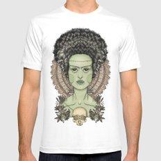 The Bride of Frankenstein MEDIUM Mens Fitted Tee White