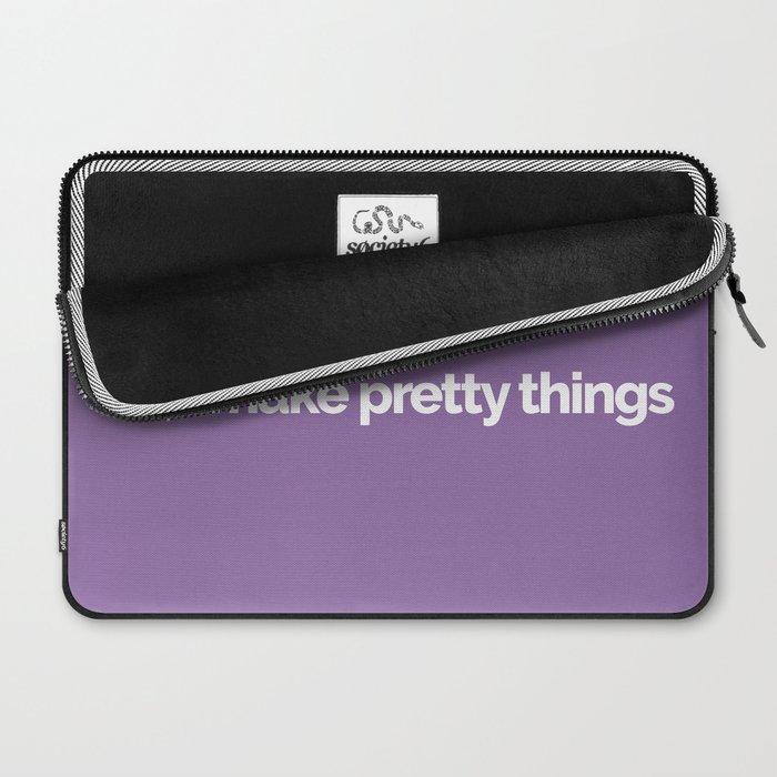Hi, I make pretty things Laptop Sleeve