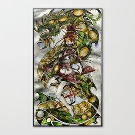 Zombie Geisha Girl Canvas Print