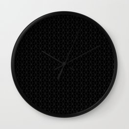 Black Cubes - simple lines Wall Clock