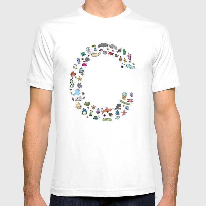 letter c - sea creatures T-shirt