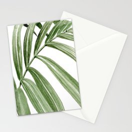 Greenery Squares Watercolor Painting Stationery Cards