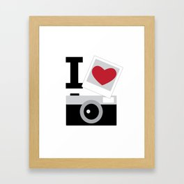 I love camera Framed Art Print