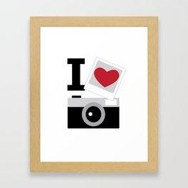 I love camera Framed Art Print