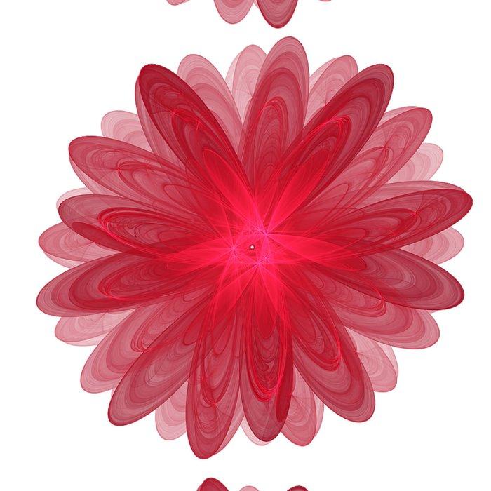 Red Flower Bloom Fractal Leggings
