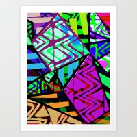 honeycomb Art Prints featuring Honeycomb by Sarah Bagshaw