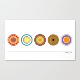 Scooby Dots Canvas Print